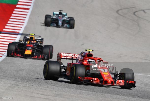 Raikkonen ganó el Gran Premio de los Estados Unidos. Foto: Getty Images.