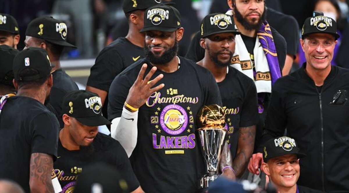 LeBron James celebra su cuarto MVP de las Finales. Vía: NBA