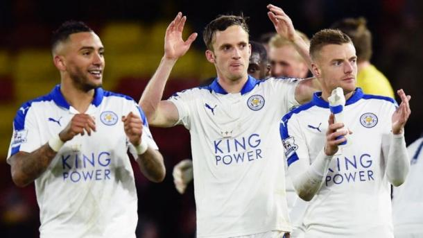 Ranieri was delighted with the contributions of his substitutes, Andy King (centre) and Jeffrey Schlupp | Photo: Getty