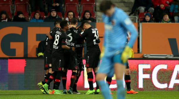 Jugadores del Leverkusen celebran un gol | Foto: Bayer Leverkusen