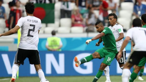 Salem Al-Dawsari got the winning goal for Saudi Arabia late in the game | Source: Getty Images via FIFA.com