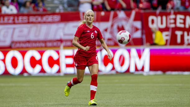 Kaylyn Kyle playing with the Canadian Women's National Team | Source: Canada Soccer
