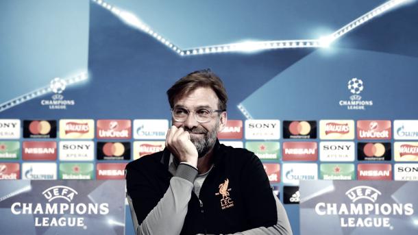 Jürgen Klopp sonríe ante la posibilidad de volver a vencer a Guardiola   Foto: UEFA