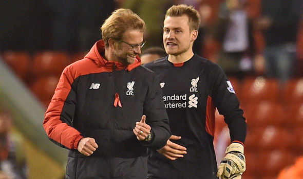 Klopp pictured with Simon Mignolet, who he has praised, despite reportedly wanting a new 'keeper (photo: LFC)