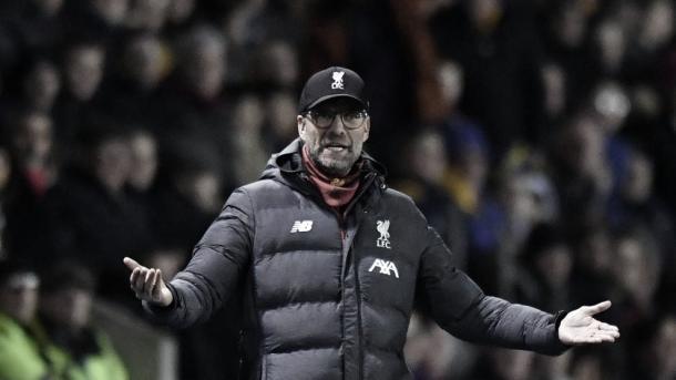 Klopp se niega a dirigir la revancha por jugarse en el parón de invierno | Foto: Liverpool