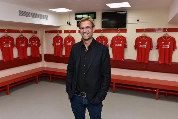 Klopp after being announced as Liverpool's new manager in October 2015. (Picture: Getty Images)