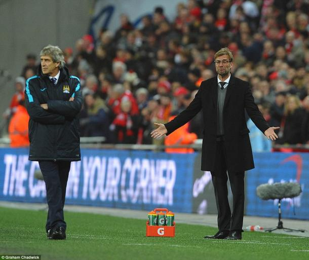 Klopp lost out to Pellegrini in last season's final (photo: Graham Chadwick)