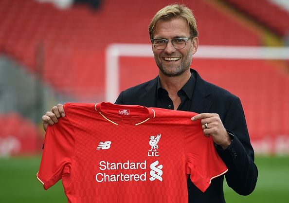 Klopp after being announced as Liverpool manager on October 8th. (Picture: Getty Images)