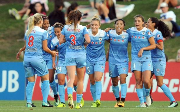 Kristie Mewis is leaving Chicago, after scoring one goal in one appearance for the Red Stars. l Source: Chicagoredstars.com