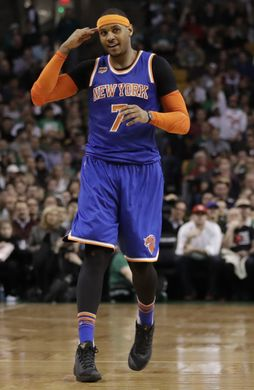 New York Knicks Forward Carmelo Anthony (7) during the game. Photo courtesy of   David Butler II-USA TODAY Sports.