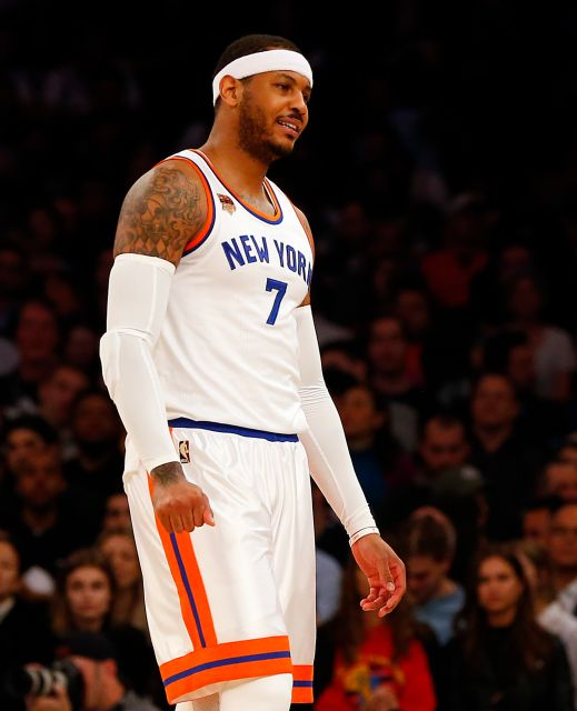 Carmelo Anthony during the game. Photo by: Jim McIsaac/Newsday