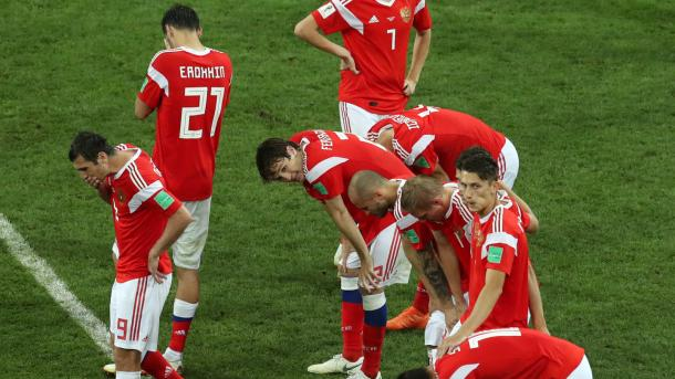 It was a heart-breaking end to Russia's World Cup journey | Source: Getty Images via FIFA.com