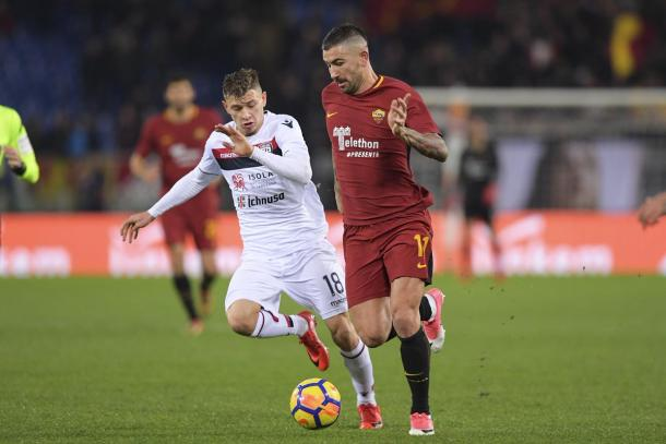 La Roma batte il Cagliari: la decide Fazio all'ultimo minuto