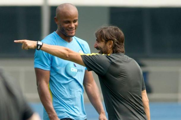 Kompany is closing in on a return from injury. (Picture: Manchester Evening News)
