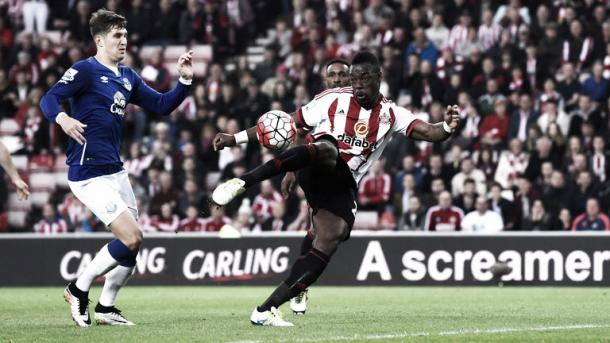 Kone's brace against Everton ultimately kept Sunderland in the Premier League last season. (Photo: Sky Sports)