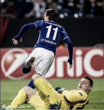 Konoplyanka tras el primer gol | FOTO: Schalke en Twitter