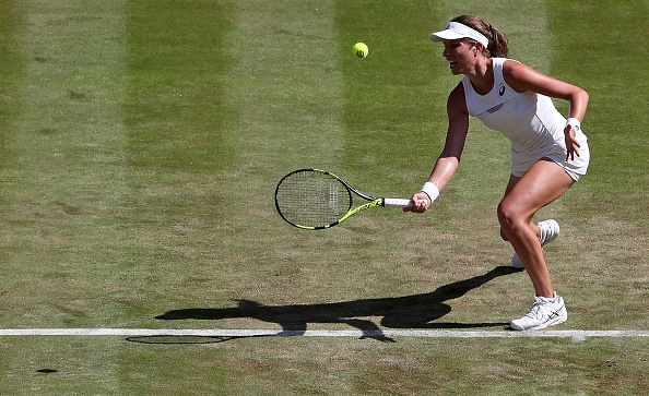 Konta was in sublime form on Centre Court (Photo by Adrian Dennis / Getty)