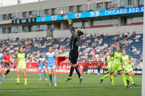 Haley Kopmeyer was the star of the show in Chicago. Source: Seattle Reign FC