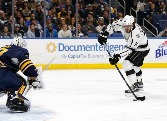 Anze Kopitar scored the first goal of the night. | Photo: Getty Images