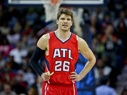 Kyle Korver spent five seasons with the Atlanta Hawks, averaging 10.9 points per game while shooting 45.2 percent from deep. Photo: Derick E. Hingle/USA TODAY Sport