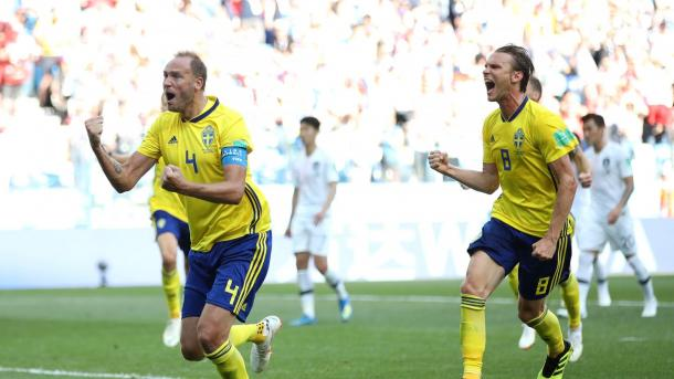Andreas Grandqvist led by example today for his country | Source: Getty Images via FIFA.com
