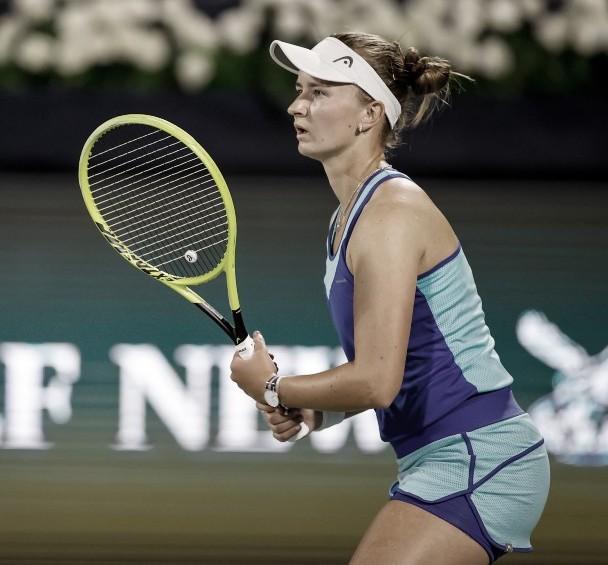  Barbora Krejcikova Foto Dubai Tennis Champs @DDFTenni  