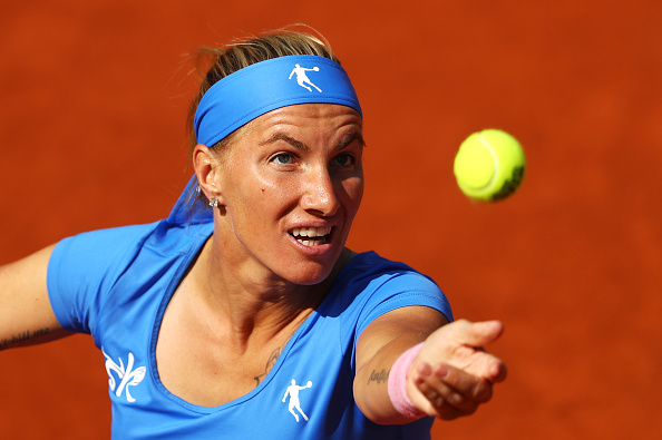 .(Svetlana Kuznetsova, the 13th seed Russian, is into the fourth round in Paris where she will face Garbine Muguruza of Spain (Photo: Julian Finney;Getty
