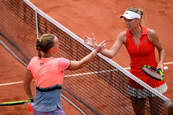 Kuznetsova and Wozniacki have a good amount of respect for each other (Photo by Eric Feferberg / Getty)