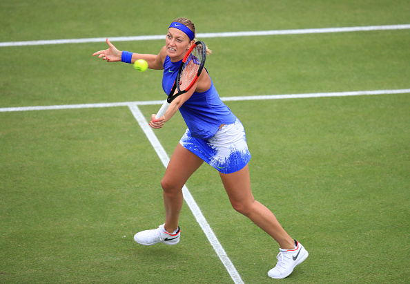 Kvitova advances to Birmingham semis, Vandeweghe retires