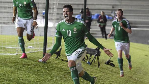 Lafferty played a big part in Northern Ireland's qualification | Photo: Sky Sports