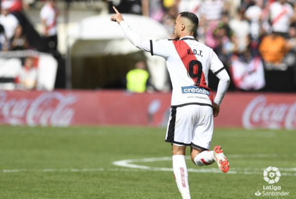 Raúl de Tomás celebrando su gol ante el Getafe | Fotografía: LaLiga Santander