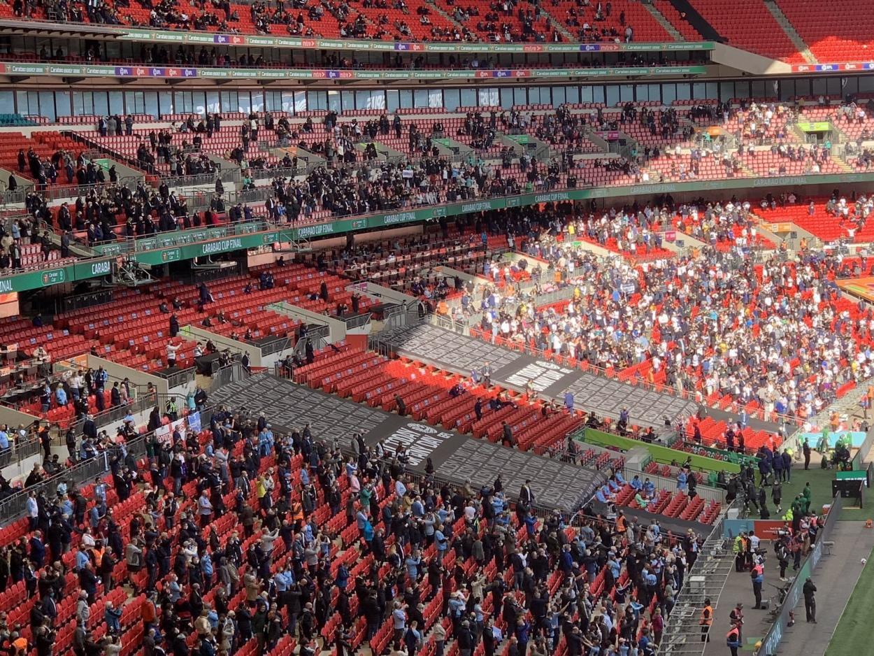 La vuelta del público a los estadios en Inglaterra / Foto: Manchester City