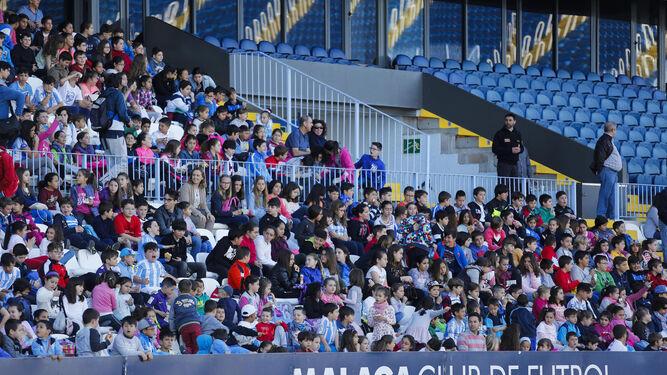último entrenamiento del Málaga CF a puerta abierta / Foto: Málaga Hoy