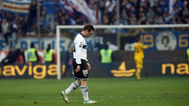 Cassano tras perder un partido con el Parma / Foto: Parma