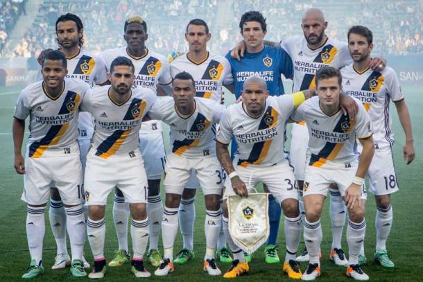 The offense of the LA Galaxy has exploded for 22 goals in their first nine games of the MLS regular season. Photo provided by ISI Photos.