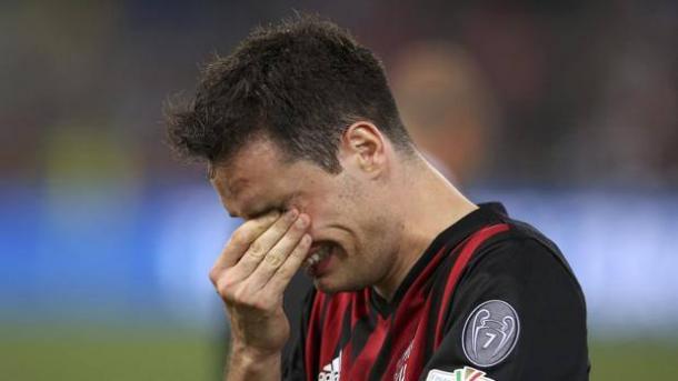 Le lacrime di Jack Bonaventura dopo la sconfitta. | Google.