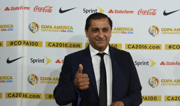 Ramon Diaz at the Copa America draw in NYC. Photo: Reuters