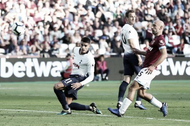 Lamela marcou mais um gol na temporada, seu sétimo. (Twitter: SpursOfficial)