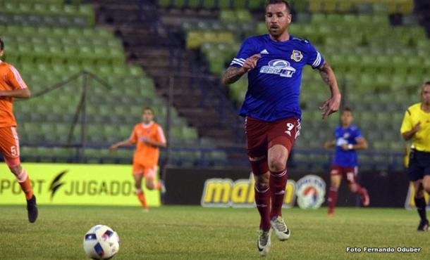 Emiliano López marcó desde los doce pasos / www.atléticovenezuelacf.com