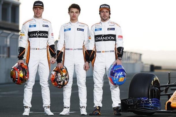 La alineación de McLaren en 2018. Fuente:  McLaren