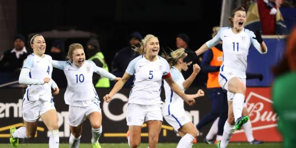Steph Houghton hopes to lead her team to a big milestone at the SheBelieves Cup | Source: Dominick Reuter-Getty Images