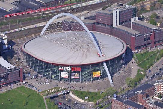 Vista aéres del Lanxess Arena. Lanxess.com