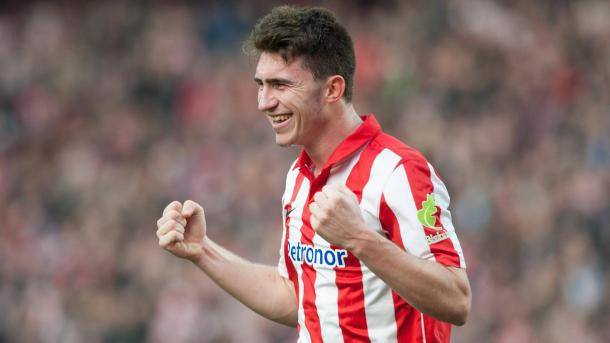 Aymeric Laporte con la maglia dell'Athletic Bilbao, www.calcioefinanza.it