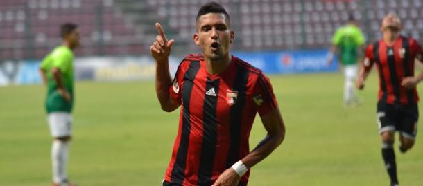 Celebración de Gómez ante Zamora / FOTO: Deportivo Lara