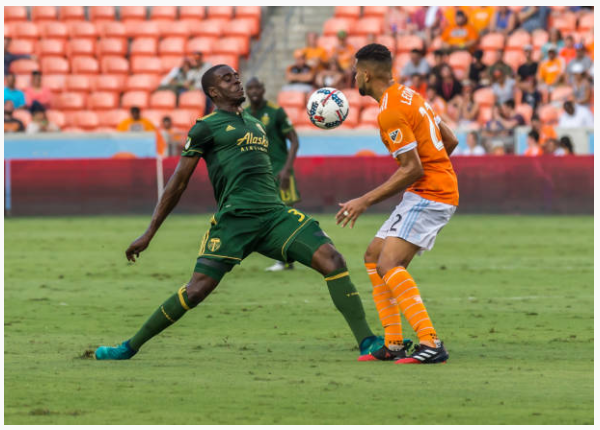Larrys Mabiala's arrival has tightened up the Timbers' back line Image: Leslie Plaza Johnson/Icon Sportswire via Getty