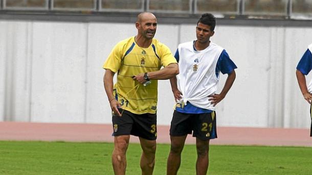 Paco Jémez y Jonathan Viera en Las Palmas | Foto: MARCA