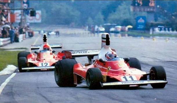 Regazzoni e Lauda a Monza nel 1975