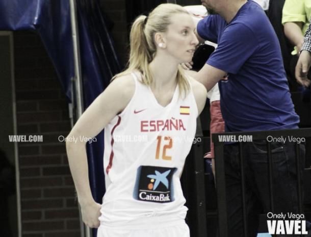 Laura Gil, con la selección española   Fuente: Onely Vega - VAVEL.com.