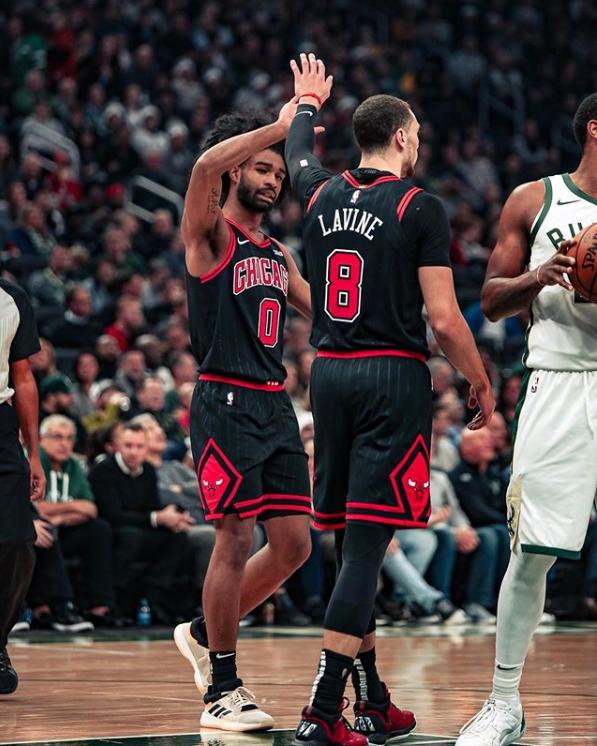 Coby White y Zach LaVine | Foto: Bulls.com