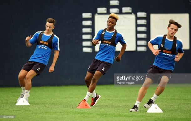 Youngsters Demarai Gray (M) and Tom Lawrence (L) have both been linked with moves away from the King Powe Stadium | Photo: Getty/ Plumb Images